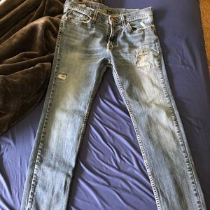 Hollister jeans ripped